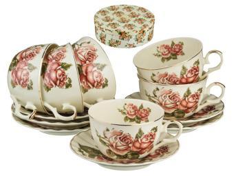 Чайный набор Корейская роза 12пр 250мл