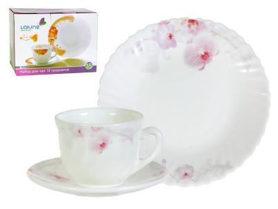 Чайный набор 18 предметов Орхидея