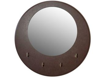 Ключница 25*25см открытая с зеркалом Симпл Венге