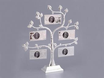 Фоторамка Денежное дерево серебро