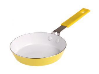 Сковорода 14см порционная желтая