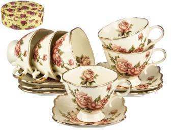 Чайный набор 12пр ''Корейская роза''