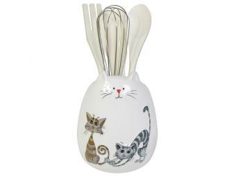 Подставка для кухонных принадлежностей Озорные коты