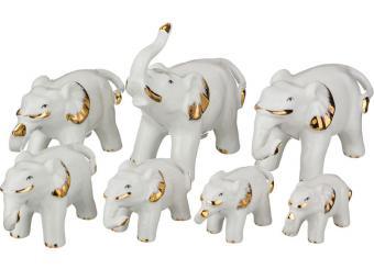 Комплект слоников из 7 шт фарфор