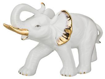 Фигурка Слон белый с золотом 12см 18*5см