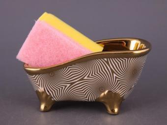 Подставка для губки с губкой Ванночка Золотая волна