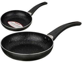 Сковорода 14см с мраморным покрытием черный