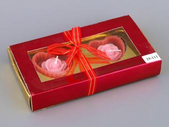 Подарочный набор с 2-мя аромо-свечами Розочки