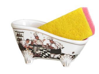 Подставка для губки с губкой Ванночка Повара