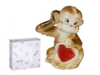 Фигурка Обезьянка с сердцем