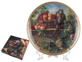 Тарелка настенная Обезьяны с персиком