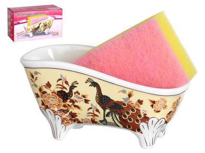 Подставка для губки ванночка Павлин Арти-М