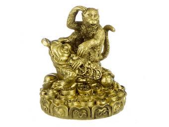 Фигурка Обезьянка с денежной жабой