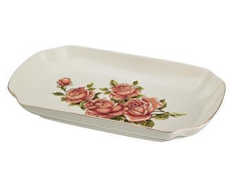 Блюдо шубница Корейская роза 30*17*4 см