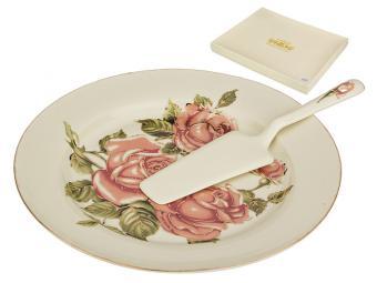 Тортовница Корейская роза с лопаткой 27см