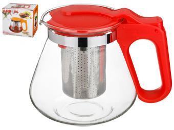 Чайник заварочный 700мл с фильтром нерж (красный)