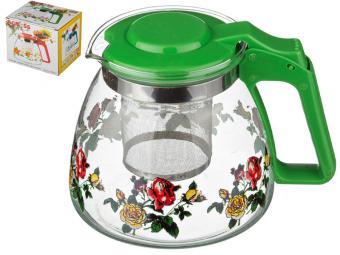 Заварочный чайник с фильтром Розы 900мл