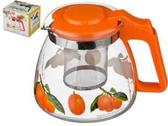 Заварочный чайник с фильтром Мандаринчики 900мл