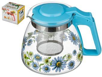 Заварочный чайник с фильтром Васильки 900 мл