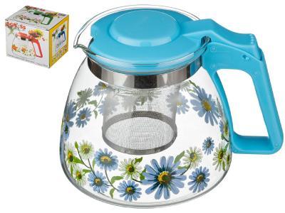 Заварочный чайник с фильтром Васильки 900 мл Арти-М