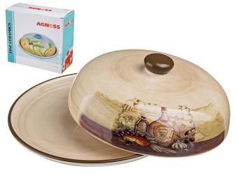 Блюдо для блинов Сицилия с крышкой 23*10см