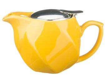 Чайник заварочный с метал крышкой Желтый Грани 500мл