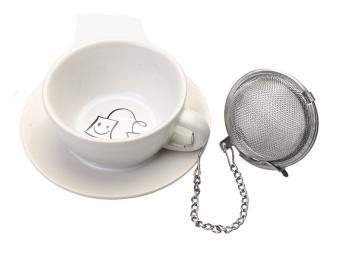 Подставка под чайные пакетики Чашечка белая