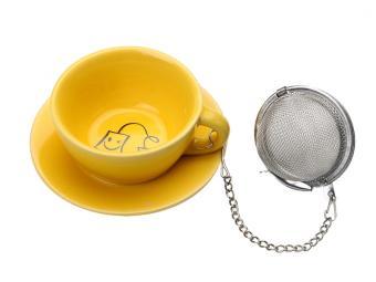 Подставка под чайные пакетики Чашечка Желтая