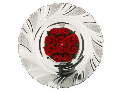 Тарелка стеклянная Розарий 18см Арти-М