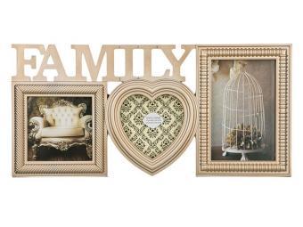 Фоторамка-коллаж на 3 фото Family 40*20см