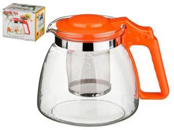 Чайник стеклянный с фильтром Оранж 900мл