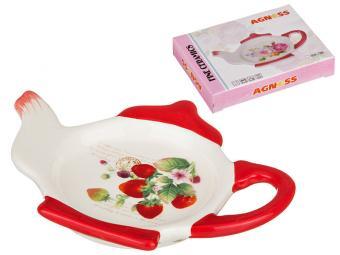 Подставка под чайные пакетики Клубника 13*9*2см