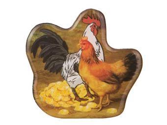 Магнит Петушок с курочкой (Удача в доме)