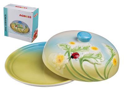 Блюдо для блинов Лето с крышкой 23*10см Арти-М