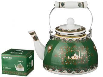 Чайник 4л эмаль Арабские мотивы