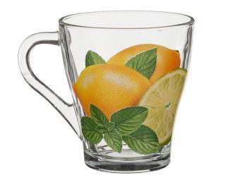 Кружка стеклянная Лимоны 280мл