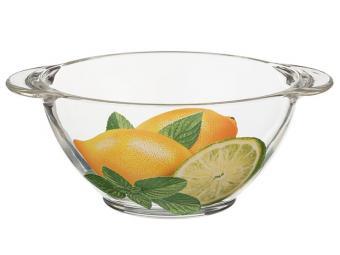 Супница бульонница стеклянная Лимоны 560мл