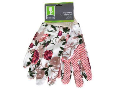Перчатки садовые х/б ткань с ПВХ