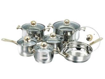 Набор посуды нерж 6 пр трехслойное дно