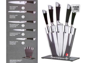 Набор ножей в прозрачной подставке 6 пр
