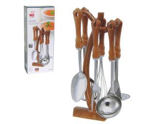 Кухонный набор нерж с платиковыми ручками