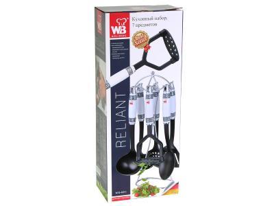 Кухонный набор для антипригарного покрытия на подставке Wellberg