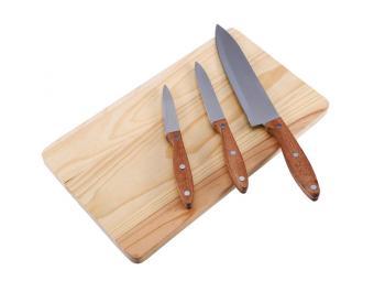 Набор ножей 3 шт и разделочная доска