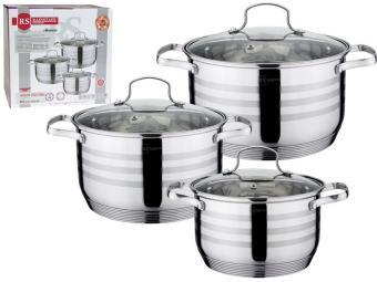 Набор посуды 3пр (2,1л, 2,9л, 3,9л) 7-ми шаговое дно