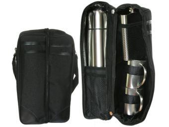 Набор подарочный Термос 1л, фляжка, 2 стакана, сумка