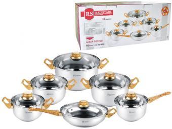 Набор посуды 6пр (1,8л,1,8л, 2,7л, 3,6л, 6,1л, 2,8л)
