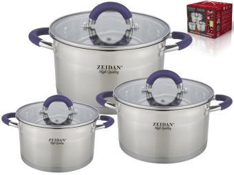 Набор посуды 3 пр нержвеющая сталь Z-50630