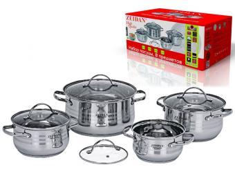 Набор посуды 4 пр нержавеющая сталь Z-50807