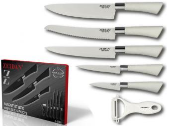Набор ножей 6пр с антибактериальным покрытием Z-3086 белый