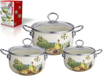 Набор эмалированной посуды 3 пр Z-80612